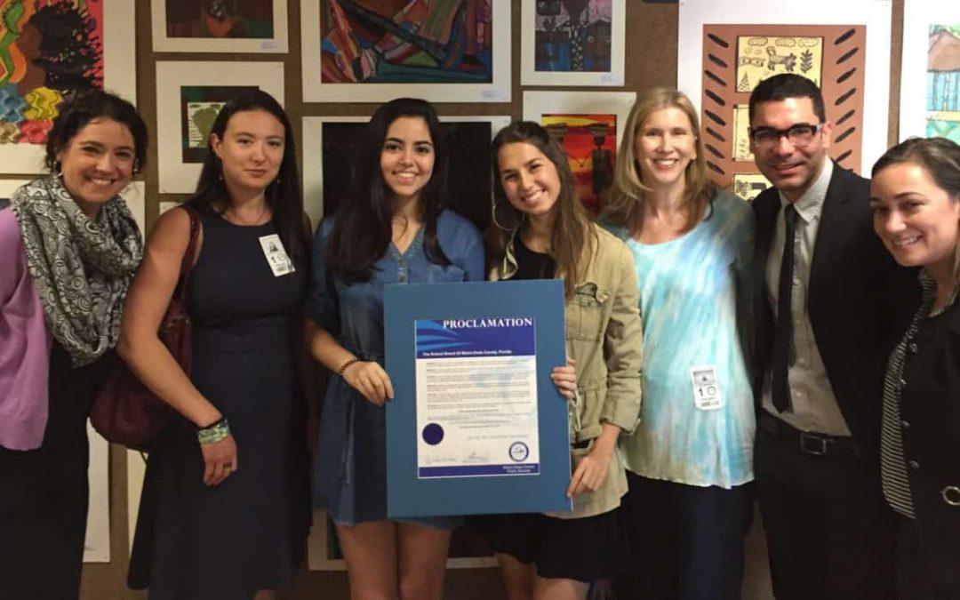 Code/Art recognized by the Miami Dade County School Board