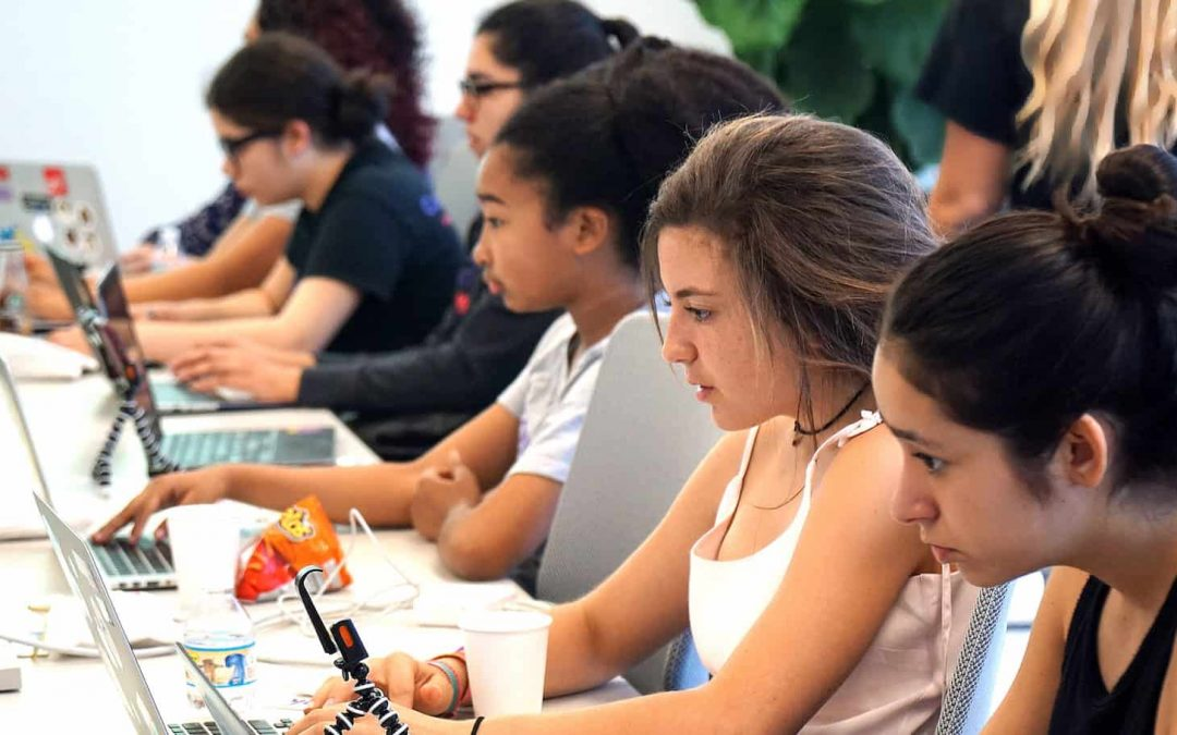 Code/Art urging girls to pursue computer science careers