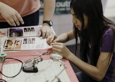 girl at tech expo