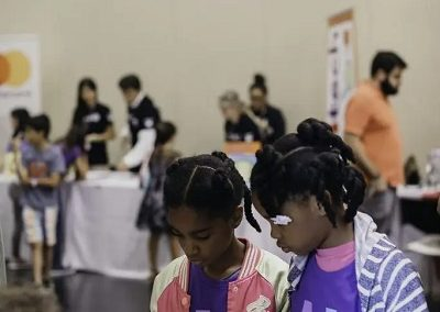 girls at STEAM expo